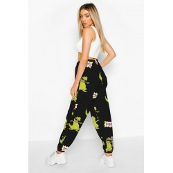 Size is S Rugrats Reptar Dinosaur High Waisted Joggers Sweatpants Cute For Women