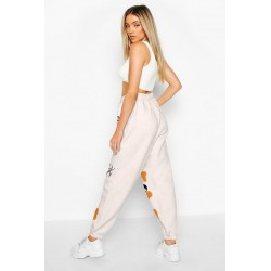 Size is S High Waisted Joggers Sweatpants Cute Butterfly Graffiti Print