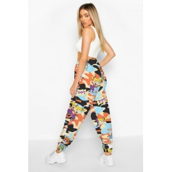 Size is S High Waisted Joggers Sweatpants Women'S Camouflage Rugrats
