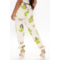 Size is S Rugrats Reptar Dinosaur Joggers Sweatpants With Pockets For Women