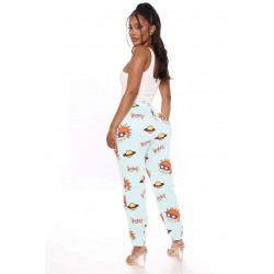 Size is S High Waisted Joggers Sweatpants With Pockets Rugrats Print For Women