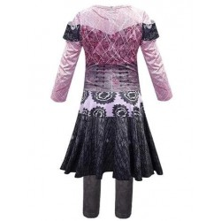 Size is (6Y-7Y)/M Girls Audrey Descendants 3 Costumes Cosplay Outfits Kids