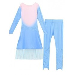 Size is (3T-4T)/XS Girls White And Blue Elsa Dress Frozen 2 Costumes Kids