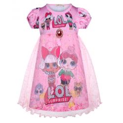 Summer Lol Surprise Doll  With Mesh Girls Birthday Dress