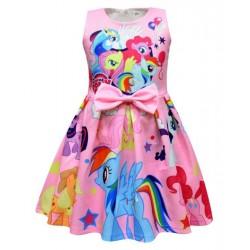 Sleeveless Unicorn My Little Pony Dress With Mesh For...
