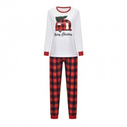 Size is 1T-2T Pants Christmas Family Pajamas Merry Christmas Car Top Plaid