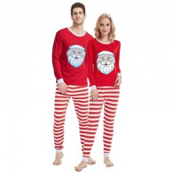 Size is 1T-2T Christmas Pyjamas Set Santa Claus Print Matching His And Hers