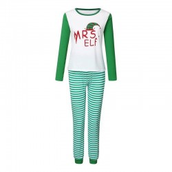 Size is 1T-2T Christmas Pyjamas Party Sets Elf Striped Matching Family For Adult Kids