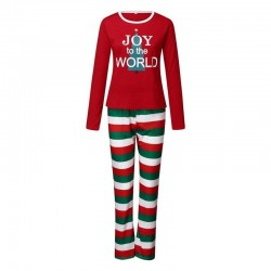 Size is 1T-2T Christmas Pyjamas Party Sets Joy To The World Striped Matching