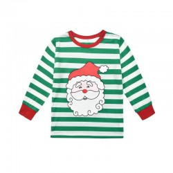 Size is 1T-2T Christmas Pyjamas Santa Claus Striped Matching Family For Adult Kids