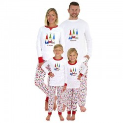 Size is 1T-2T Christmas Pyjamas Party Sets Santa Claus Matching Family For Adult Kids