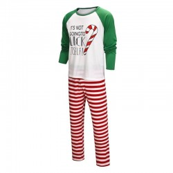Size is 1T-2T Christmas Pyjamas Set Candy Print Striped Pants His And Hers