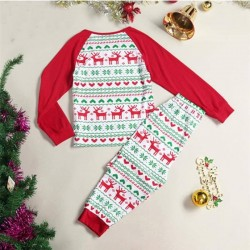 Size is 1T-2T Christmas Pajamas Party Snowflake Reindeer Print His And Hers